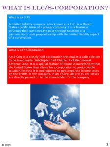 What is LLC / S-Corporation