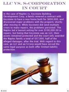 LLC vs S-corporation in court