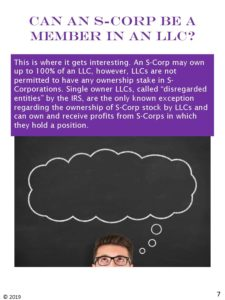 Can an S-corporation be a member in an LLC?