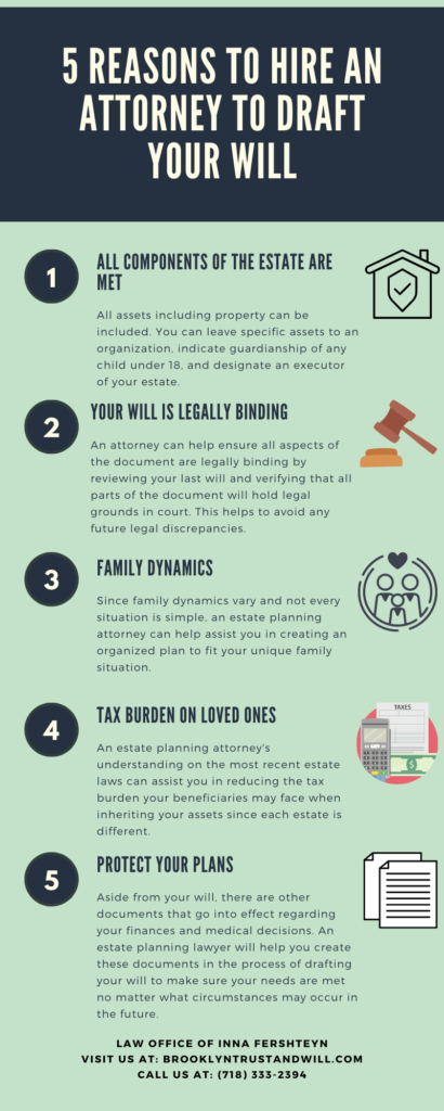 5 Reasons to Hire an Attorney to Draft Your Will